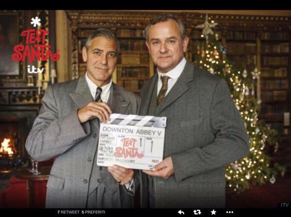 George Clooney sul set di Downton Abbey