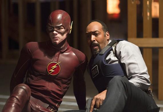 The Flash: Grant Gustin e Jesse L. Martin nell'episodio Flash vs. Arrow