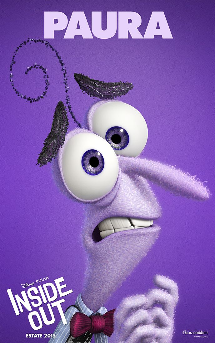 Inside Out: il character poster italiano di Paura