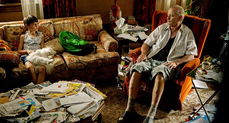 St. Vincent: Bill Murray in una scena del film con Jaeden Lieberher