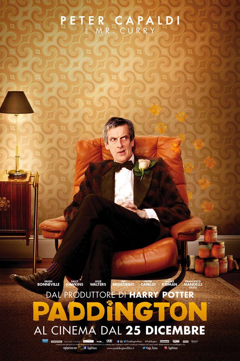Paddington: Peter Capaldi nel character poster italiano di Mr. Curry