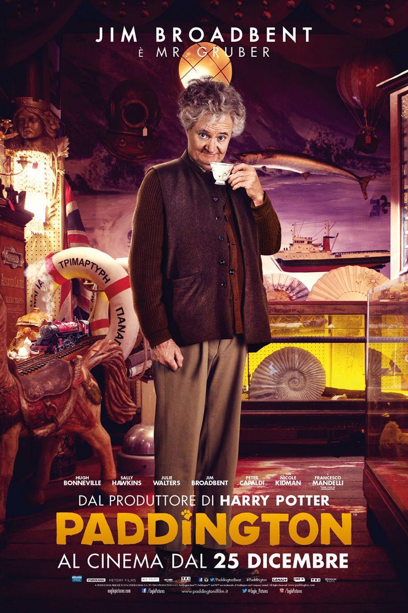 Paddington: Jim Broadbent nel character poster italiano di Mr. Gruber