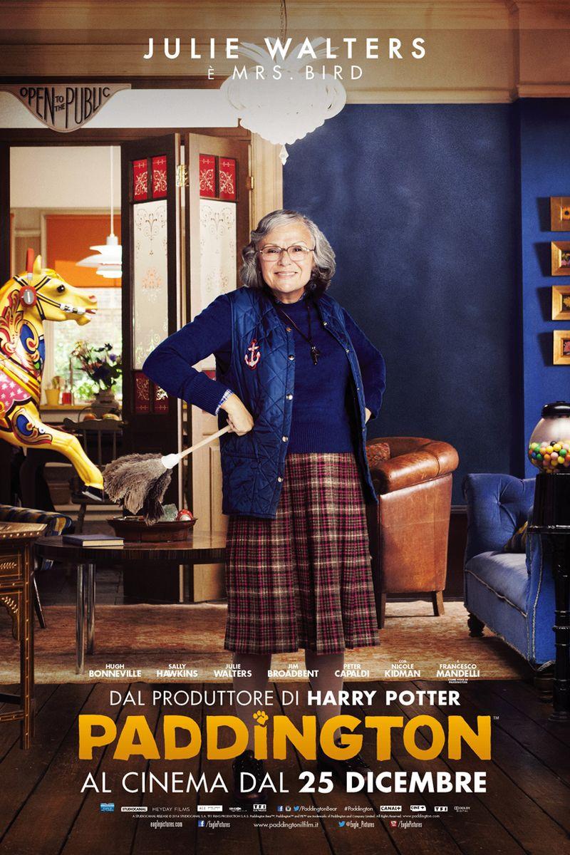 Paddington: Julie Walters nel character poster italiano di Mrs. Bird