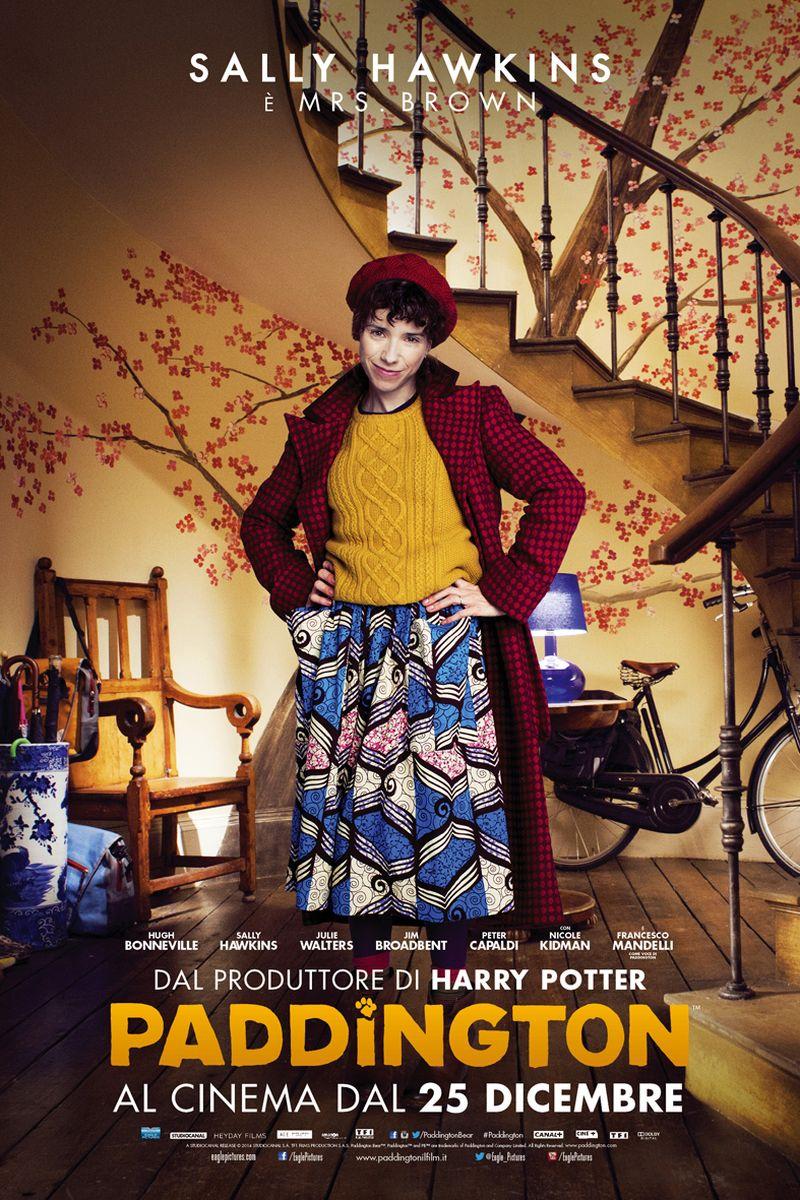 Paddington: Sally Hawkins nel character poster italiano di Mrs. Brown