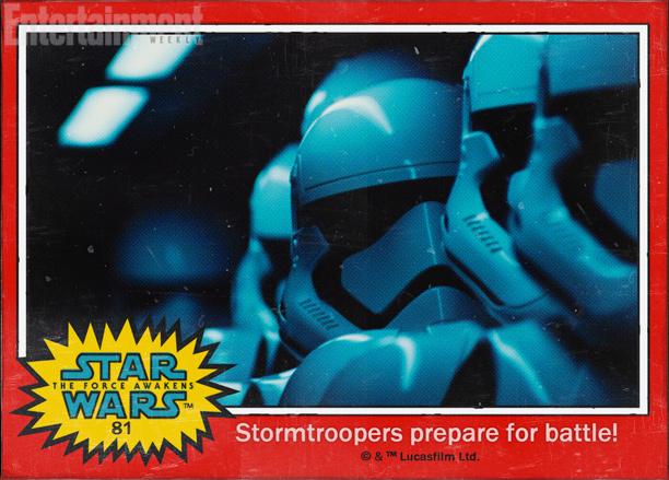 Star Wars: Il risveglio della forza - gli stormtrooper in una figurina Topps