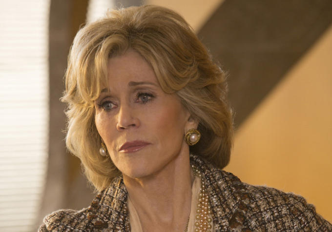 The Newsroom: l'attrice Jane Fonda nella puntata intitolata What Kind of Day Has It Been?