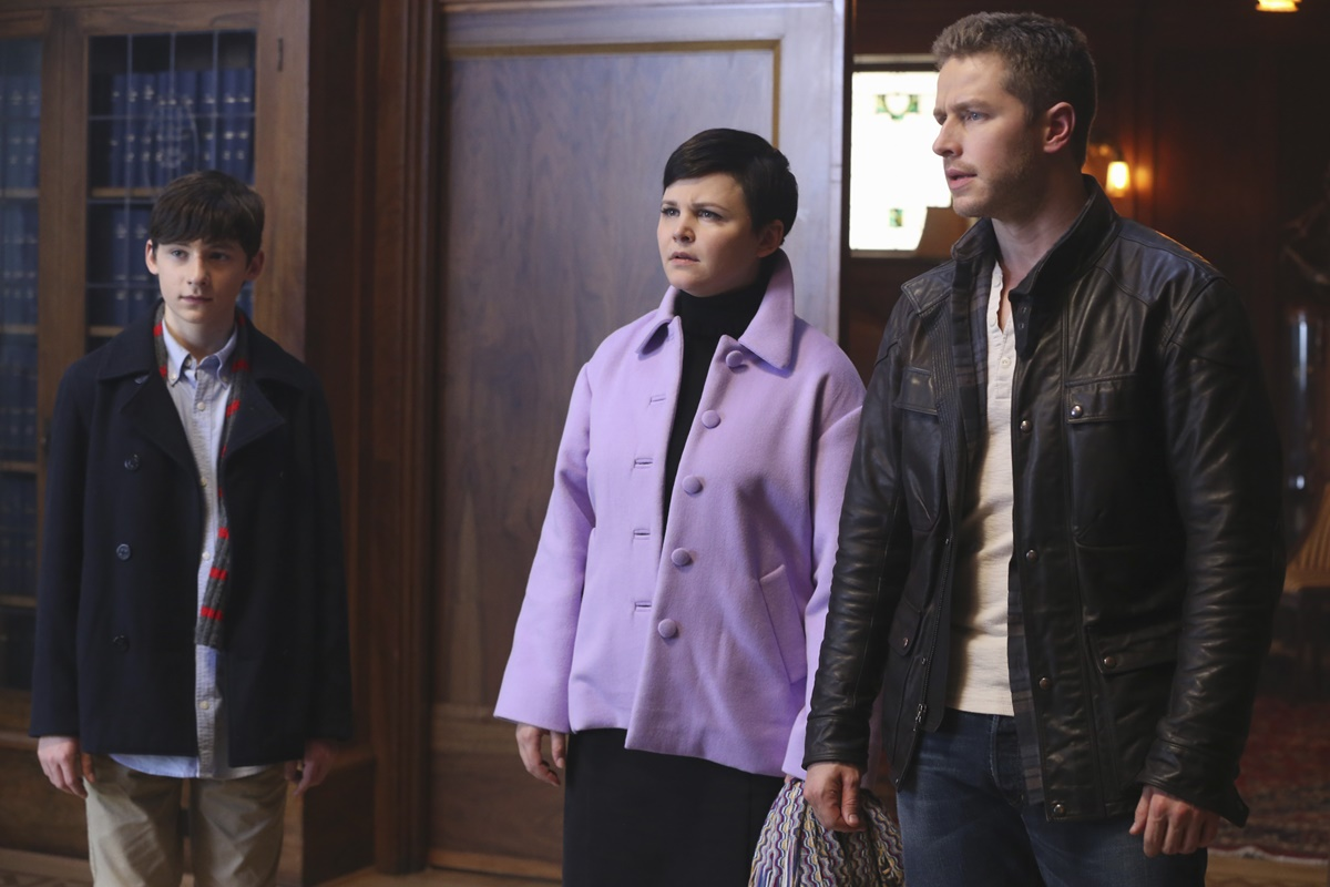 C'era una volta: Jared Gilmore, Ginnifer Goodwin, e Josh Dallas in Heroes and Villains