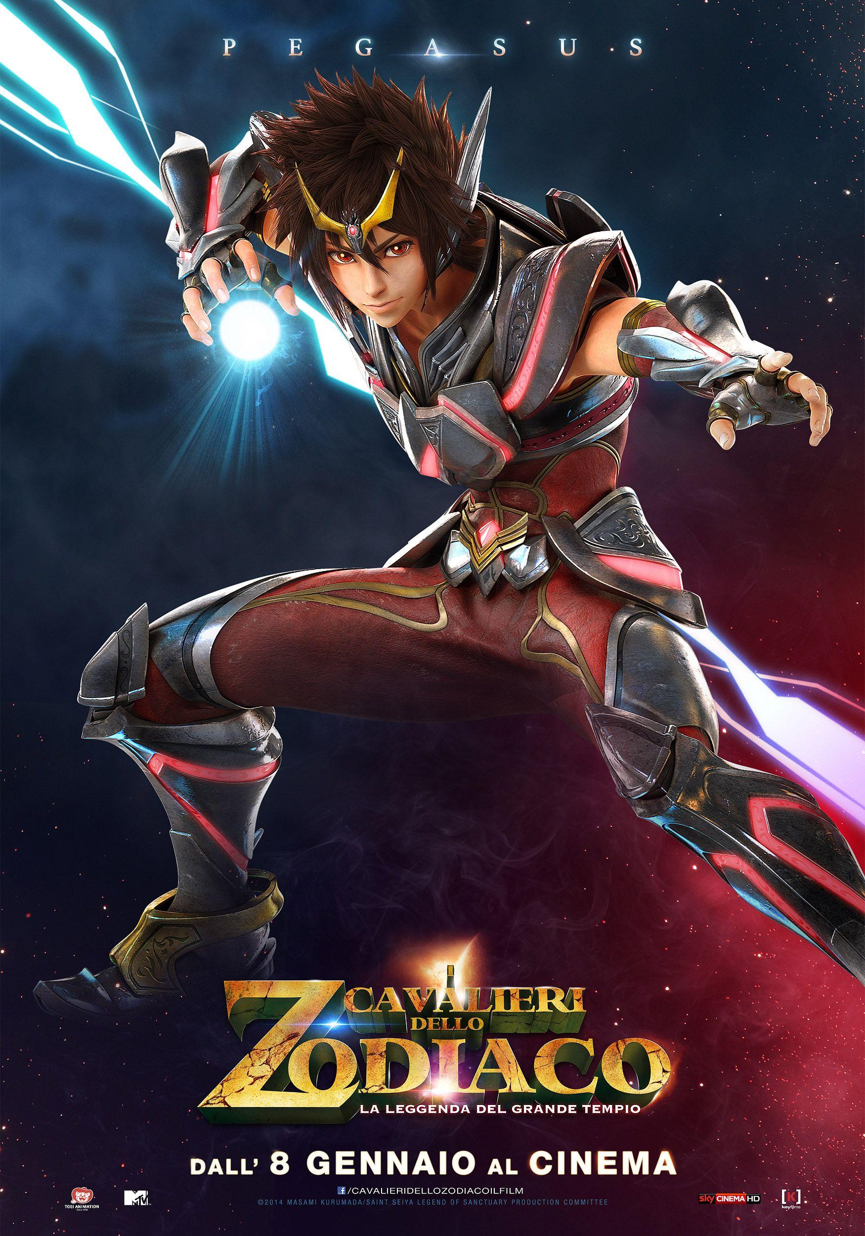 I cavalieri dello zodiaco - La Leggenda del Grande Tempio: il character poster italiano di Pegasus