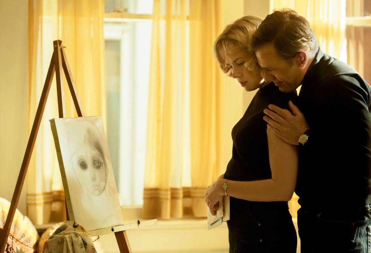 Amy Adams in un'immagine di Big Eyes insieme a Christoph Waltz