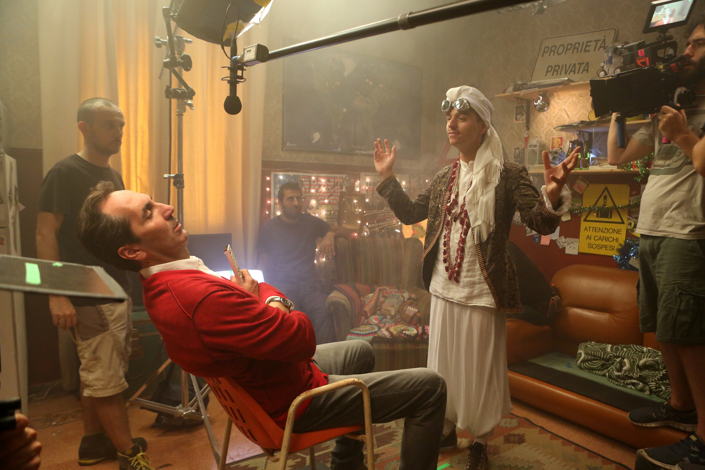 Zio Gianni: Paolo Calabresi e Luca Di Capua in una foto sul set
