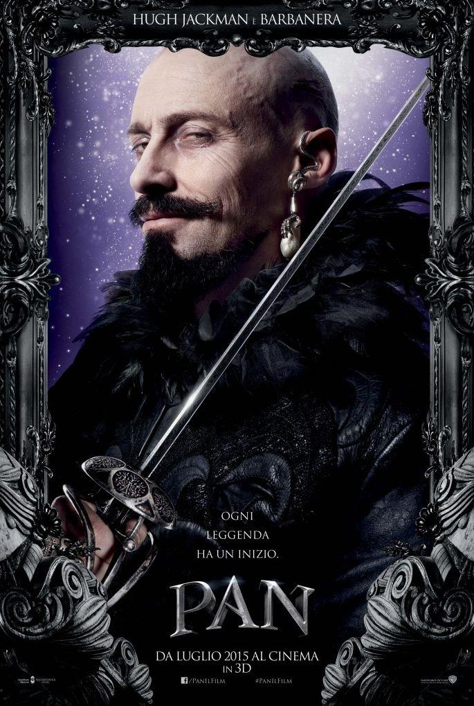 Pan: Hugh Jackman nel character poster italiano di Barbanera