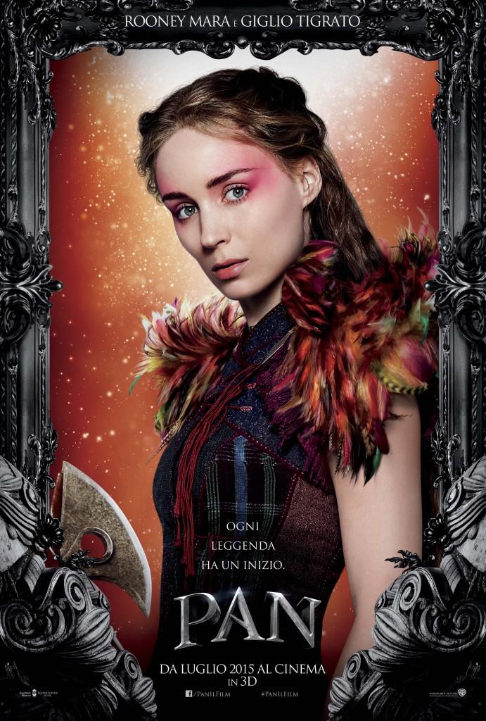 Pan: Rooney Mara nel character poster italiano di Giglio Tigrato
