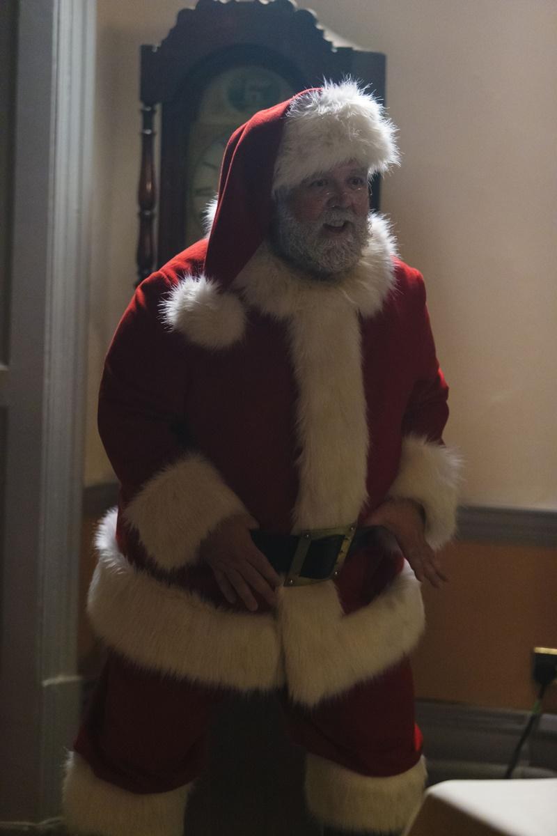 Doctor Who: Nick Frost interpreta una scena di Last Christmas