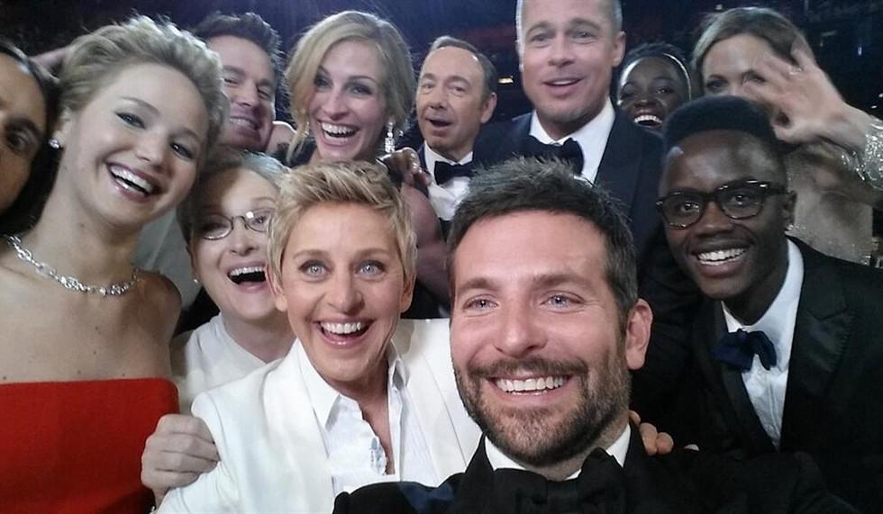 Oscar 2014 - il selfie dei record, scattato durante la cerimonia