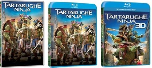 Le cover homevideo di Tartarughe Ninja