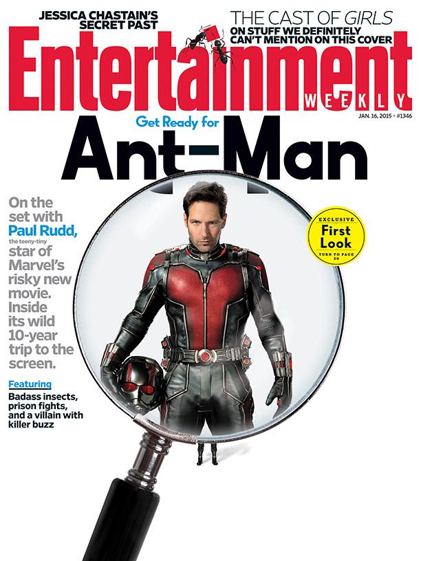Ant-Man: Paul Rudd sulla copertina di Entertainment Weekly