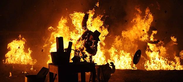 Jane Got A Gun: la spettacolare immagine di un incendio