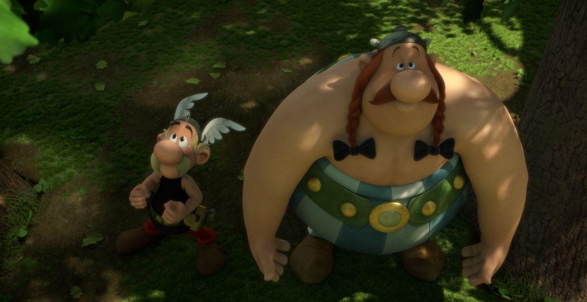 Asterix e il Regno degli Dei: Asterix e Obelix in una scena del film