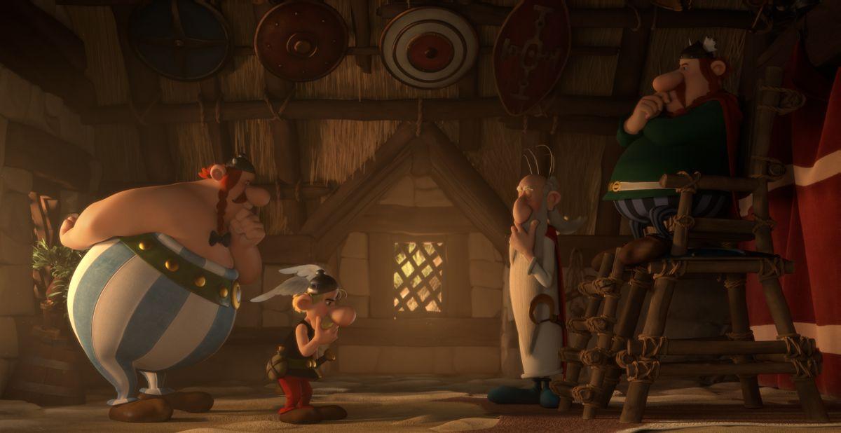 Asterix e il Regno degli Dei: Asterix e Obelix in una scena del film animato
