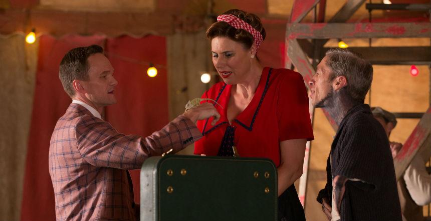 American Horror Story Freak Show: Neil Patrick Harris, Erika Ervin e Mat Fraser in Magical Thinking