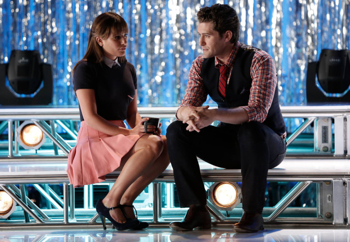 Glee: Lea Michele e Matthew Morrison in una scena dell'episodio intitolato Loser Like Me