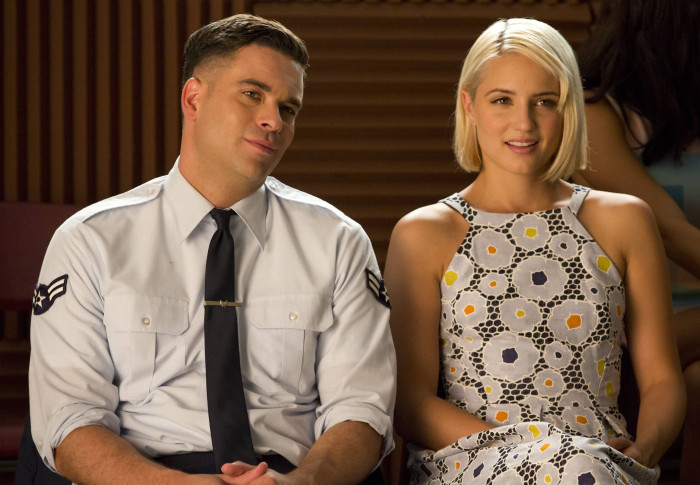 Glee: Mark Salling e Dianna Agron nell'episodio Homecoming