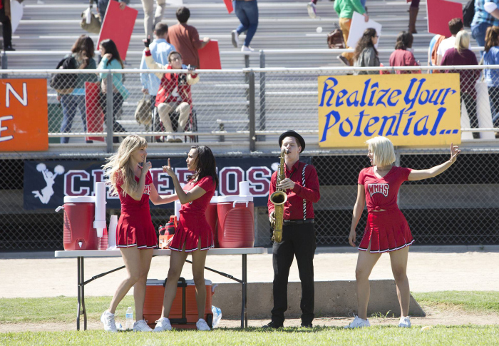 Glee: Heather Morris, Naya Rivera e Dianna Agron in Homecoming