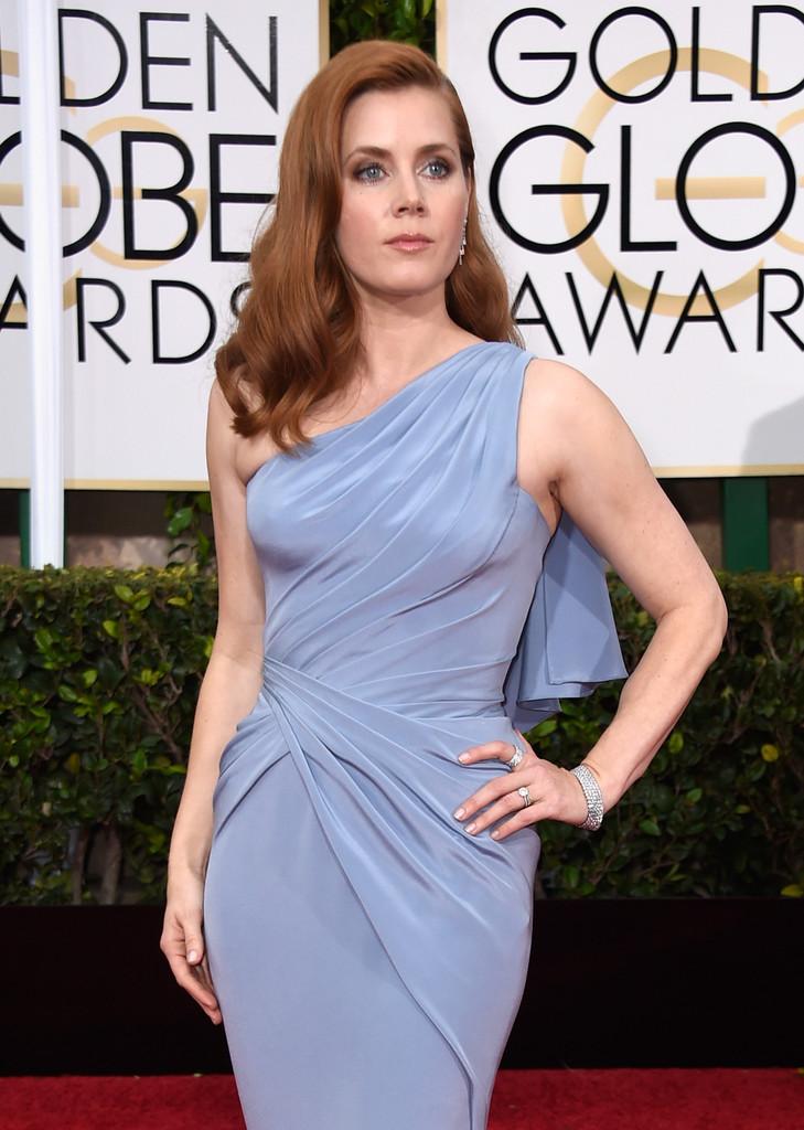 Amy Adams sul red carpet dei Golden Globes 2015