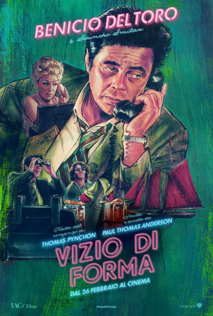 Vizio di forma: il character poster italiano di Benicio Del Toro