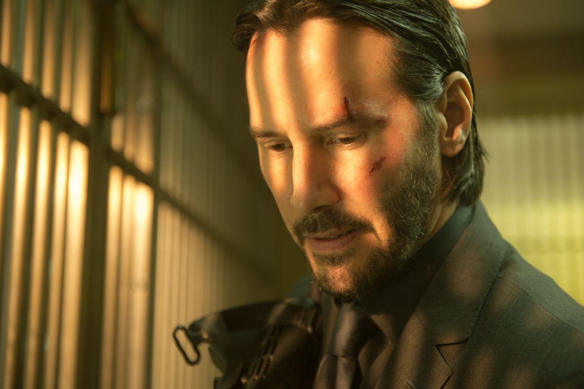 John Wick: Keanu Reeves in un primo piano tratto dal film