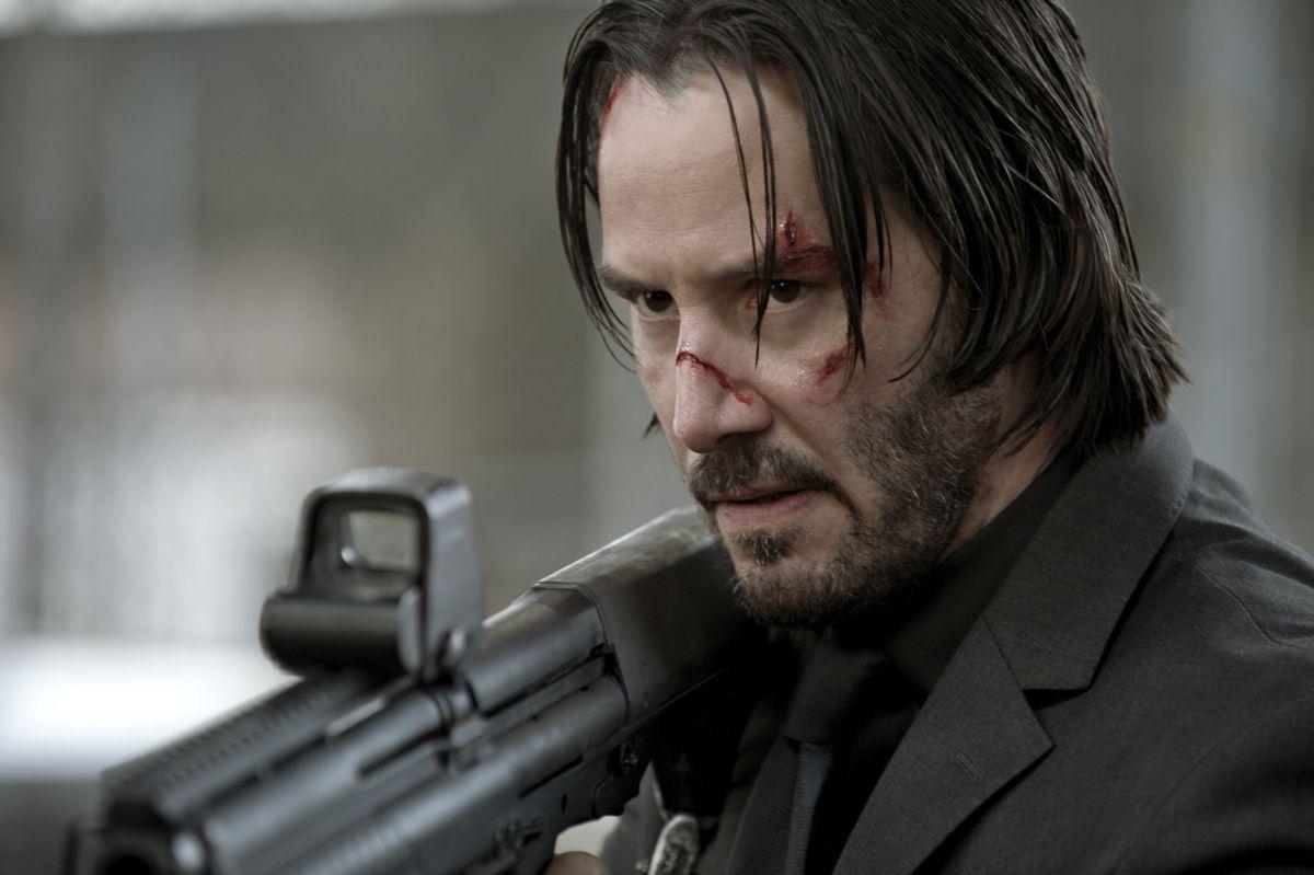 John Wick: Keanu Reeves in una scena del film