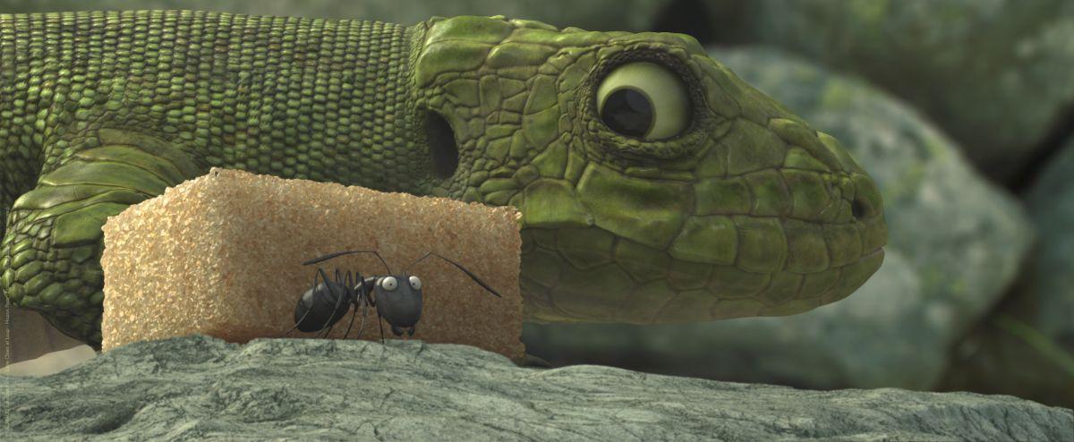 MINUSCULE - La valle delle formiche perdute: formichina in grosso pericolo in una scena del film