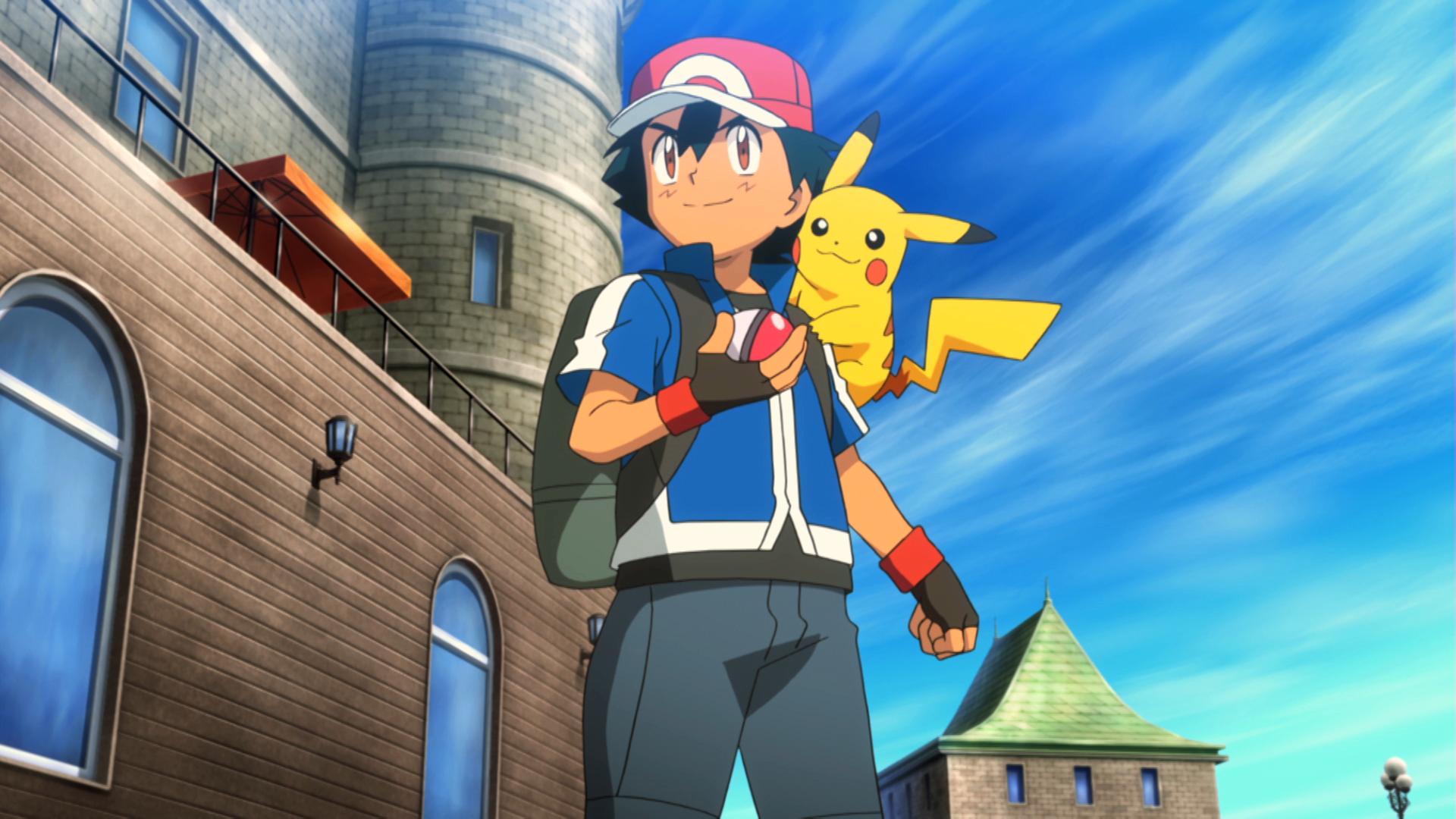 Ash e Pikachu in un momento del film Pokémon Il Film - Diancie e il Bozzolo della Distruzione