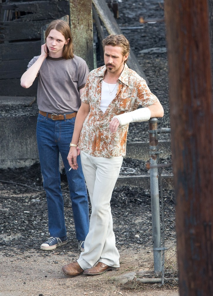 The Nice Guys - Ryan Gosling e Jack Kilmer al lavoro sul set