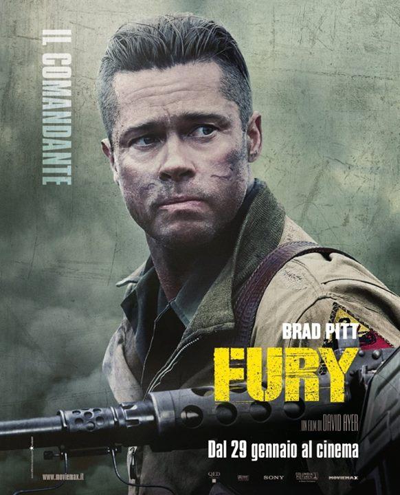 Fury: il character poster dedicato a Brad Pitt, Il comandante Wardaddy