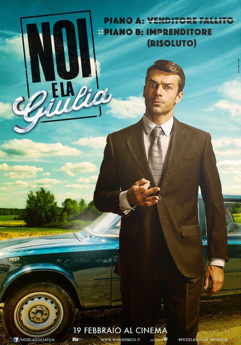 Noi e la Giulia: il character poster di Luca Argentero (Diego)