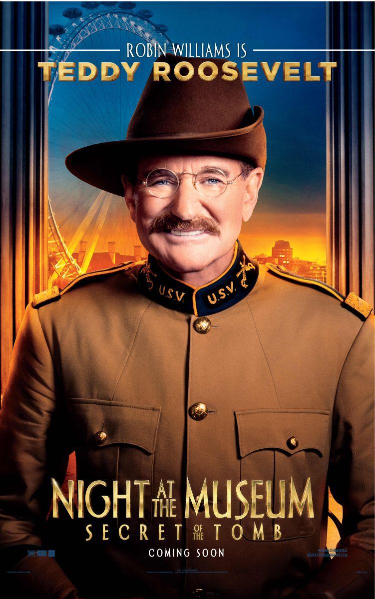 Notte al museo - Il segreto del faraone: Robin Williams nel character poster di Teddy Roosevelt