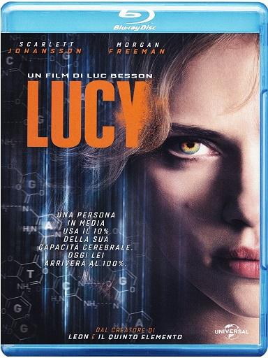 La cover del blu-ray di Lucy