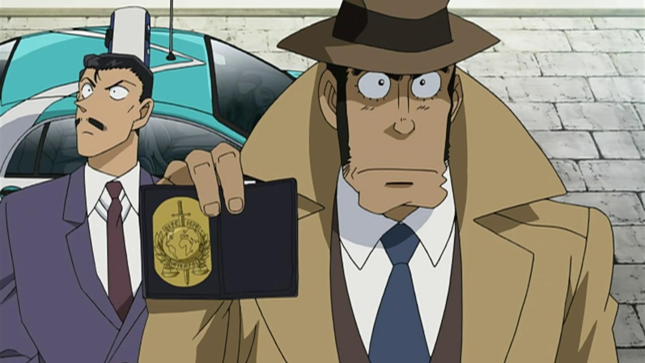 Lupin III vs Detective Conan: Zenigata in una scena del film