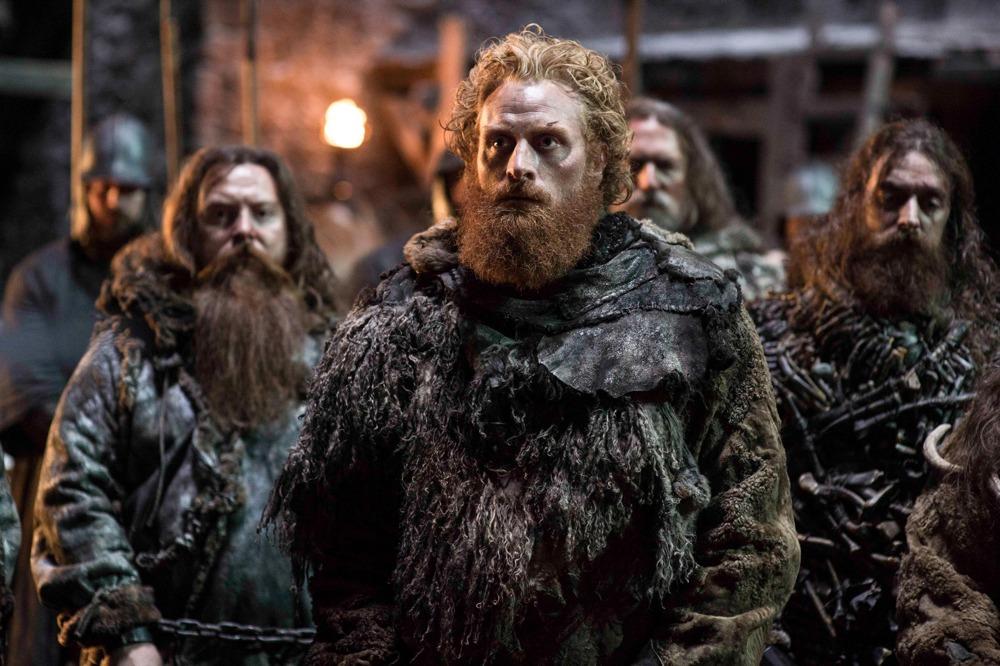 Il trono di spade: l'attore Kristofer Hivju in una scena della quinta stagione