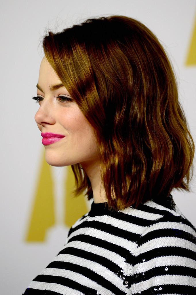 Emma Stone al 'nominee luncheon' per gli Oscar 2015