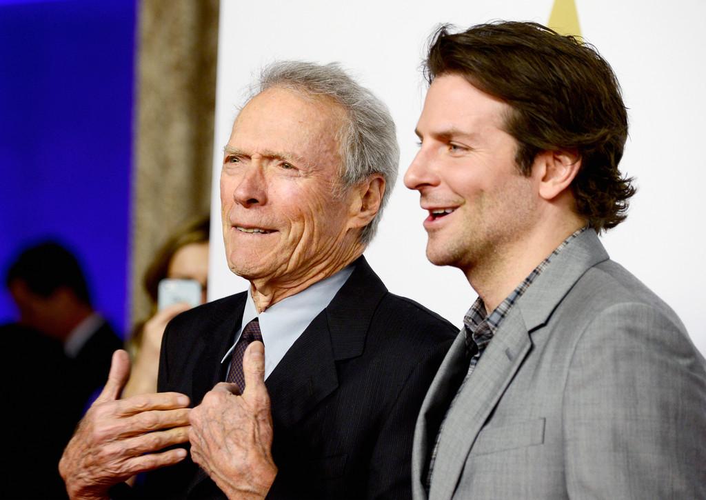 Clint Eastwood e Bradley Cooper al 'nominee luncheon' per gli Oscar 2015