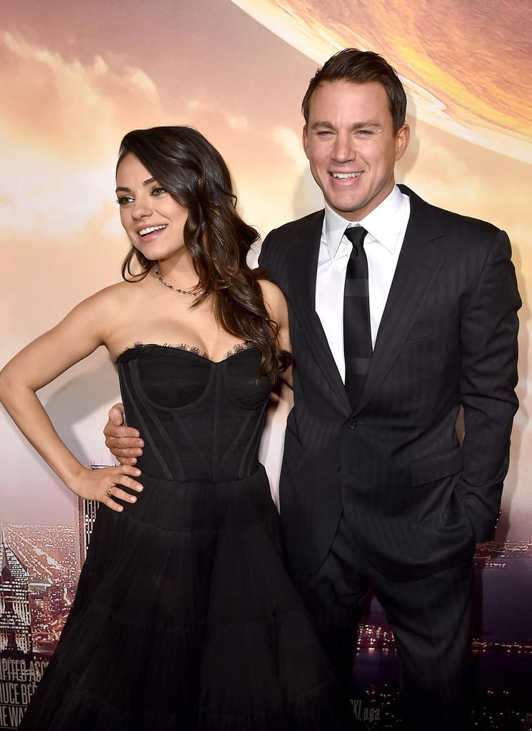 Jupiter Ascending - Mila Kunis con Channing Tatum alla premiere del film