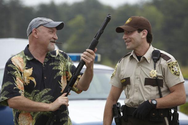 The Walking Dead:  Frank Darabont e Jon Bernthal sul set