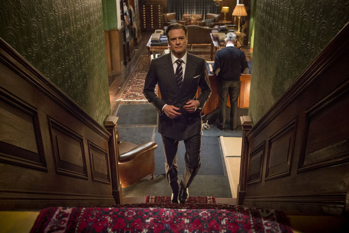 Kingsman: Secret service, Colin Firth in un'immagine tratta dal film