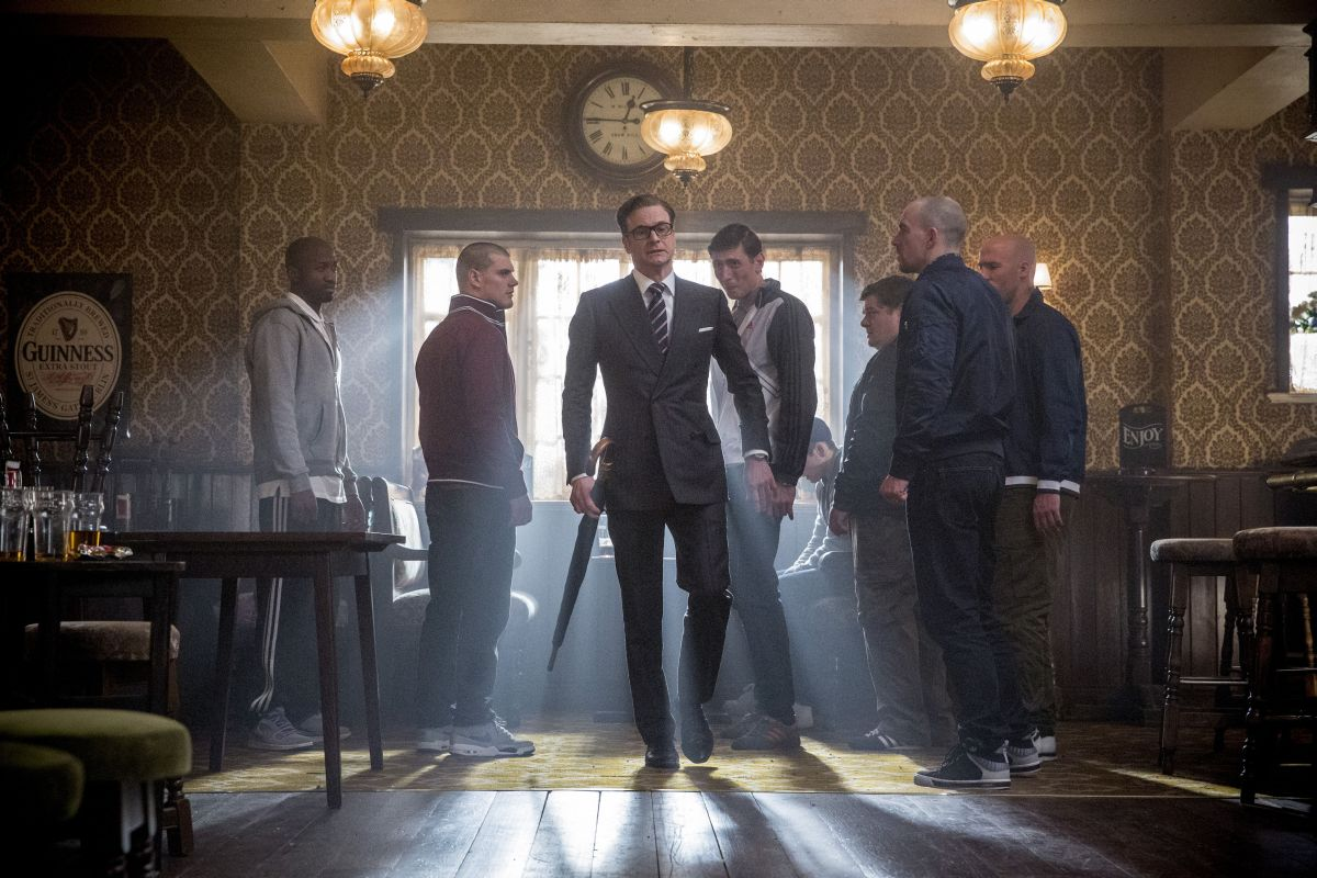 Kingsman: Secret service, Colin Firth in una scena del film