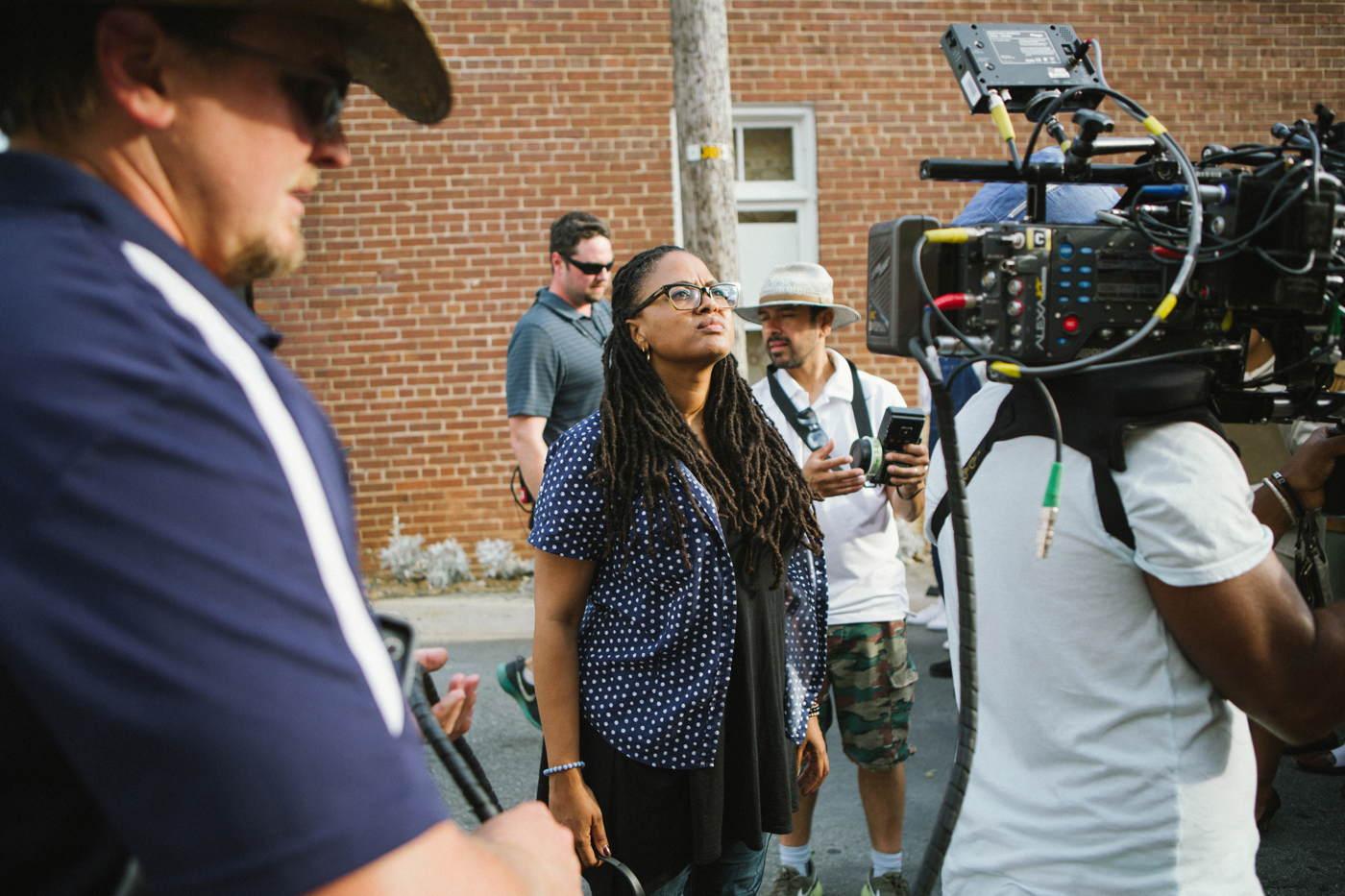 Selma - La strada per la libertà: la regista del film Ava DuVernay sul set