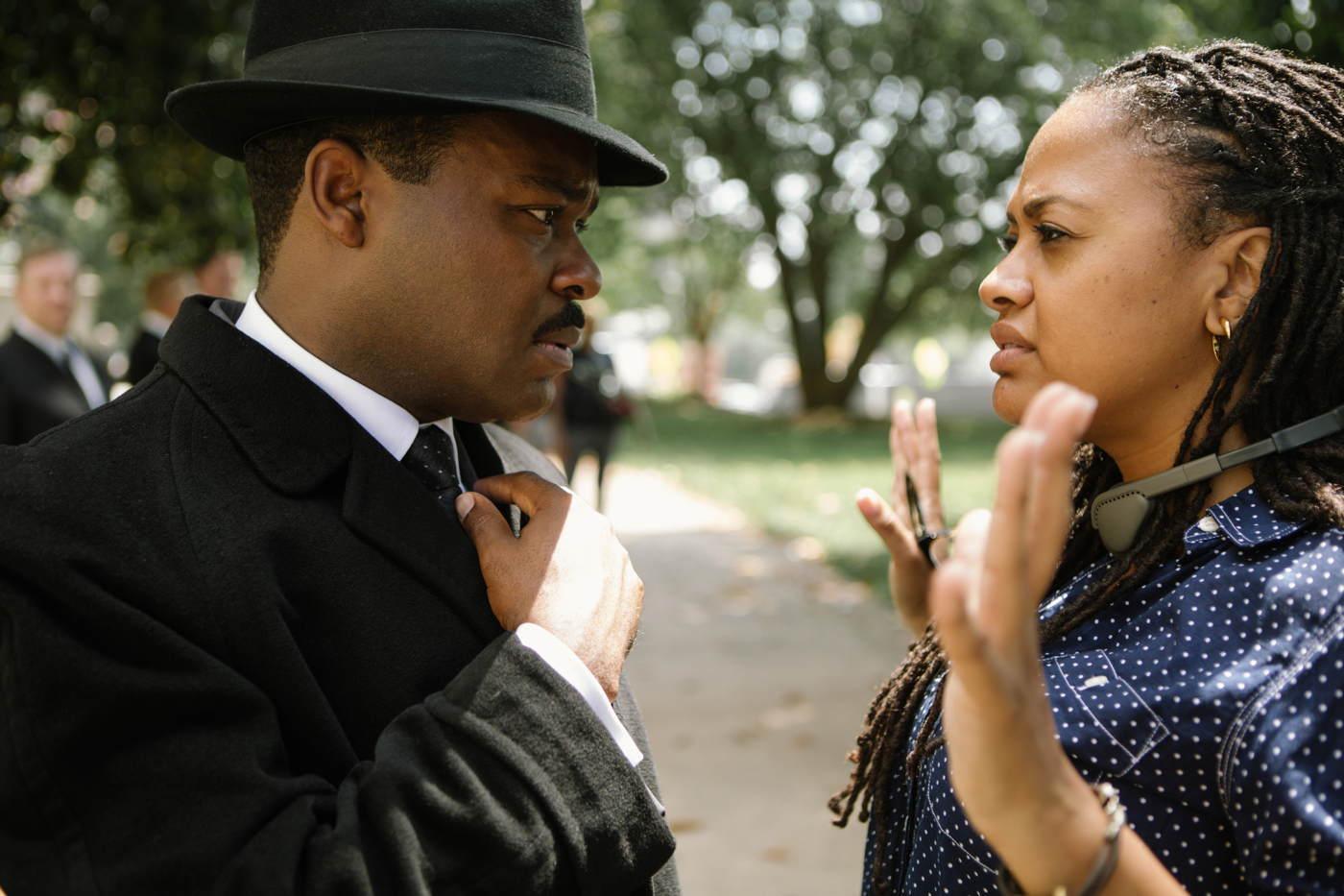 Selma - La strada per la libertà: la regista Ava DuVernay sul set con David Oyelowo