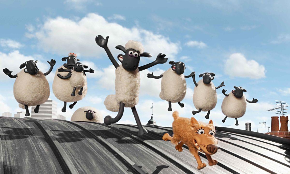 Shaun, Vita da Pecora - Il Film: un'allegra scena del film animato