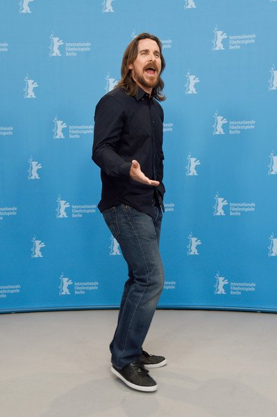 Knight of Cups: Christian Bale parla con i fotografi durante il photcall di Berlino 2015